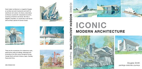 A watercolour book of iconic modern architecture - cover