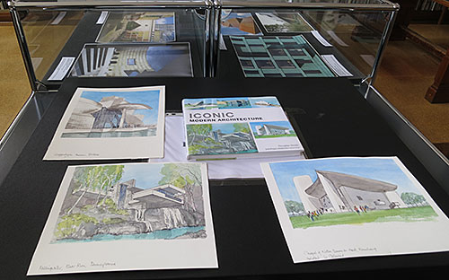 Pages from the watercolour & drawing book Iconic Modern Architecture