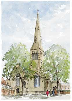 A large picture of Leicester Cathedral