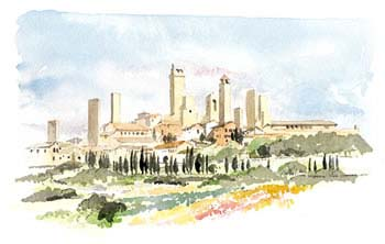 A large picture of San Gimignano