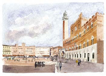 A large picture of Siena